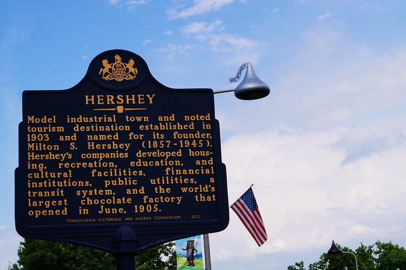 Attractions in Hershey PA, Hershey Sign