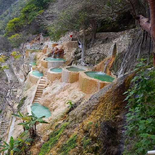 Unique places to visit in Mexico, Grutas tolantongo Hot pools, Mezquital Valley, Hidalgo, Mexico